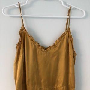 Aritzia Dresses - Aritzia Wilfred Midi Dress Mustard Yellow Gold S